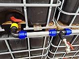 VOXTRADE IBC - Kit di collegamento per 2-6 serbatoi d'acqua da 40 mm per erogatore extra grande (6)