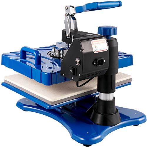 VEVOR Transferpresse 5 in 1 Heißpresse Maschine 1000 W T-Shirt Presse Maschine 38 x 29 cm Hitzepresse Maschine DIY Heat Press mit Digitaler LED-Temperatur- und Zeitcontroller mit Komplettes Zubehör