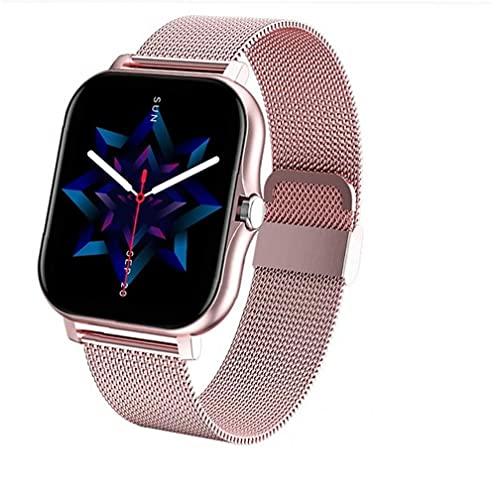 1.69 \'\' Full Touch Fitness-Uhr mit weiblicher Gesundheit Tracker Herzfrequenz-Meldung Benachrichtigung Wasserdichte Outdoor-Sport Smartwatch für Android iOS-Telefone (Rosa)