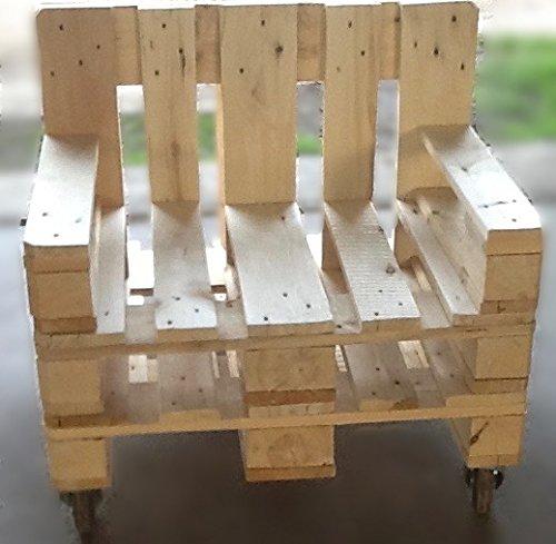 Palettenmöbel ~ 2 Sessel aus Europaletten mit Rollen ~ 2 Palettensessel ~ 2 Lounge Sessel