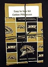 Easy to Sew Kit Cotton Pillowcase - College Western Michigan University Broncos