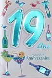 Age Mv 69-2020 Carte Anniversaire 19 ans Garçon Fille Jeune Homme Femme motif...
