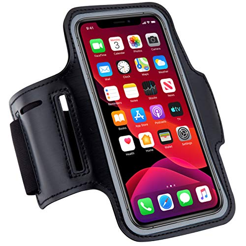 Dapper&Doll Dapper&Doll Cell Phone Armband iPhone Holder for Running & Gym - Fits Max Plus Mini SE (12/11/X/XS/XR/8/7/6/5) Galaxy S Ultra Plus Lite Edge Note (21/20/10/9/8/7/6/5)