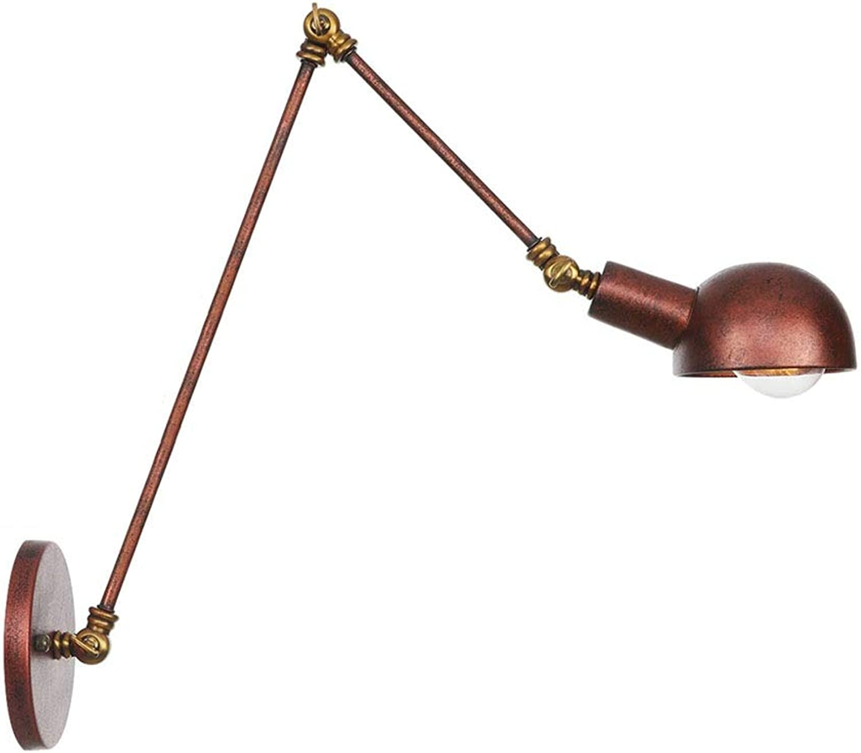 Einstellbare Wandleuchten Nordic Kreative Lenkkopf Schaukel Langen Arm Eisen Rost Wandleuchten Restaurant Cafe Gang Wandleuchte Leuchte,40+20cm