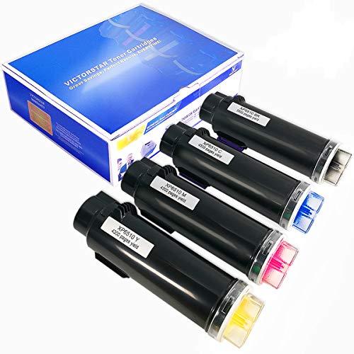 VICTORSTAR Kompatible Xerox Phaser 6510 WorkCentre 6515 Tonerpatrone (BK + C + Y + M) 4 Farben Die Höchste Ausbeute 5500 Seiten & 4300 Seiten für Laser Jet Drucker Xerox Phaser 6510 6510n