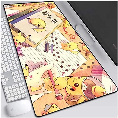 ZDVHM Pokemon Gaming Mouse Pad Perfekte Tasche Pikachu in Über Extended Keyboard Mauspad Beruf Non-Slip Spiel Mousepad Cafe Matten for Office Home PC Desktop-Tabelle Mäuse-Pads