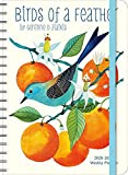"""Geninne Zlatkis 2020 - 2021 On-the-Go Weekly Planner: 17-Month Calendar with Pocket (Aug 2020 - Dec 2021, 5"""" x 7"""" closed): Birds of a Feather"""