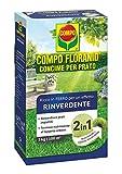 COMPO FLORANID Rinverdente, Concime per Prato, Ricco di Ferro, Per nutrire manti erbosi ingialliti e renderli fitti e verdi, 3 kg