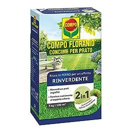 Compo Concimi Rinverdente Floranid Engrais pour Gazon Riche en Fer, pour Nourrir Les pelouses jaunâtres et Les Rendre…