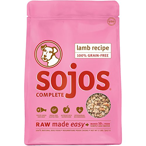 Sojos Complete Natural Grain Free Dry Raw Freeze Dried Dog Food Mix