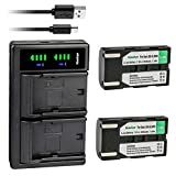 Kastar 2-Pack SB-LSM80 Battery and LTD2 USB Charger Replacement for Samsung SC-D263 SC-D351 SC-D352 SC-D353 SC-D354 SC-D355 SC-D357 SC-D362 SC-D363 SC-D364 SC-D365 SC-D366 SC-D371 SC-D372 SC-D375