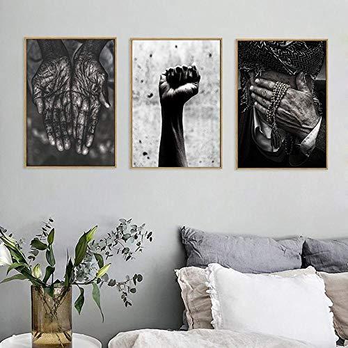 YWOHP Pintura Decorativa de puño de Palma Creativo, Porche casero Simple, Arte de Pared, Lienzo, Imagen, Sala de estar-30x40cm