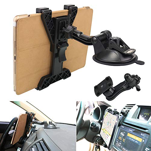 "Tablet Holder Car Air Vent Mount,OHLPRO Universal Dashboard Windshield 2-in-1 Cradle TPU Suction Sticky Gel for iPad/iPad Mini Samsung Galaxy Size 6""- 10.5"" All Tablets"