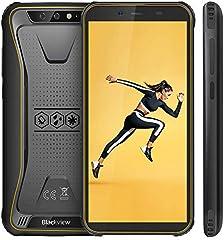 "【Blackview Oficial】 BV5500 (2020) Móvil Libre Resistente IP68 Impermeable Robusto de 5.5"" (13.9cm, 18:9), 2GB/16GB, Android 8.1, Doble Cámara 8MP+5MP, 4400mAh Batería SIM Doble Smartphone- Amarillo"