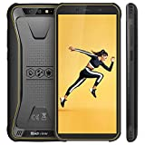 Telephone Portable Etanche, Blackview BV5500 Ecran 5.5 Pouces 18:9 HD+ Ecran, 16Go ROM + 2Go RAM, 4400mAh Batteries, Android 8.1 avec Cameras 5MP+8MP&0.3MP, GPS,3G Smartphone Incassable - Jaune
