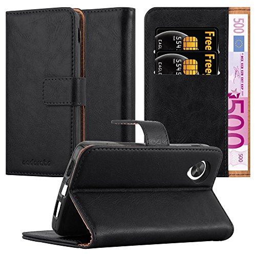Cadorabo Funda Libro para LG Nexus 5 en Negro Grafito - Cubierta Proteccíon con Cierre Magnético, Tarjetero y Función de Suporte - Etui Case Cover Carcasa