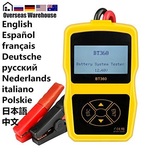 Best Price L.J.JZDY Car Tester 12V Auto Battery Tester 12v Car Battery Analyzer Multi-Language Diagn...
