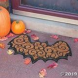 Fun Express Bat-Shaped Coir Door Mat - Halloween Decoration