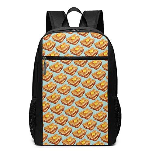 IUBBKI Toast Casual Daypacks Mode Mehrzweck-Daypacks Hochleistungs-Business-Laptop-Rucksäcke Wandertagesrucksäcke