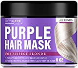 Purple Hair Mask - Made in USA Hair Toner w/ Retinol, Avocado Oil & Silk Proteins for Blonde Hair, Ash & Platinum Hair - Greatly Lighten Brassy Hair and Condition Dry Damaged Hair - No Yellow Hues