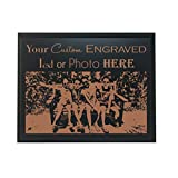 Custom Personalized 3D Laser Engraved Black Finish Plaque with Your Personal Message, Text, Logo, or Photo - Wedding, Housewarming, Anniversary, Birthday, Father's Day, Christmas, Gift (8X10)