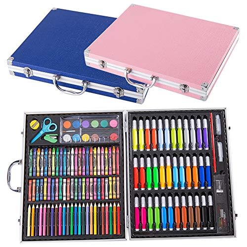 NIUPAN 150 tools schoolbenodigdheden kinderen kleur potloodschets aquarel pen schilderij set aluminium doos blauw