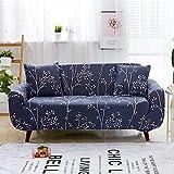 WXQY Estirar la Funda de sofá Rosa Impresa con Todo Incluido para la Sala de Estar, el sofá en Forma de L de Esquina segmentada Necesita Comprar 2 Piezas A3 de 4 plazas