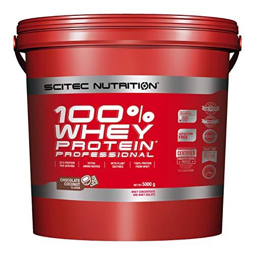 petit un compact Scitec Nutrition PROTEIN 100% Whey Protein Professional, Chocolat Noix de Coco, 5000 g