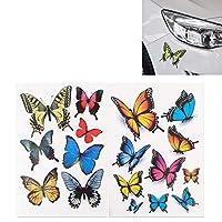 車の装飾保護ベルト 7 PCS蝶の形プラスチック車の自由なステッカー (色 : Colour)