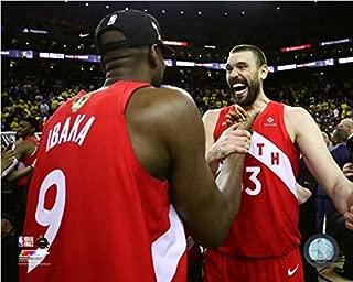 Serge Ibaka & Marc Gasol Toronto Raptors 2019 NBA Finals Celebration Photo (Size: 20