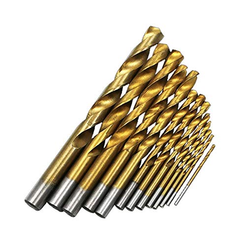 13pcs *2-12mm High Speed Steel Twist Drill Electric Impact Hand Drill Durable