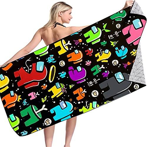SK-LBB Among Us - Toalla de playa, de secado rápido, para piscina, natación, baño, fitness, esterilla de yoga, manta (L3)