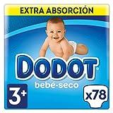 Dodot Bebé-Seco Pañales Talla 3+, 78 Pañales, con Canales de Aire