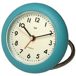 BAI Rondo Travel Alarm Clock, Turquoise