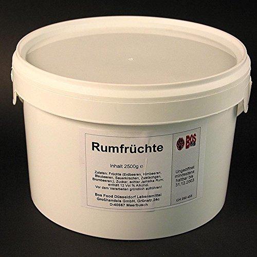Rumfrüchte, mit Jamaica Rum, 12% vol., 2,5 kg