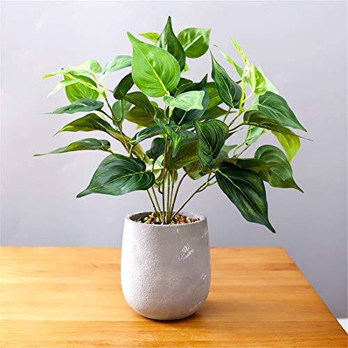 Huis perfetta Creatieve simulatie groene planten potplanten interieurdecoraties ingesteld bureau simulatie groene plant met cement potplanten versieringen