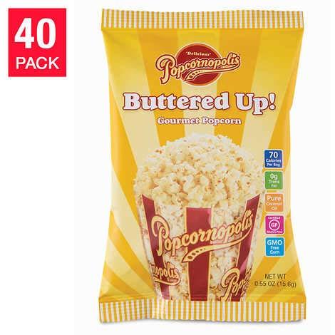Find Discount Evaxo Buttered-Up Popcorn 0.55 oz, 40-pack