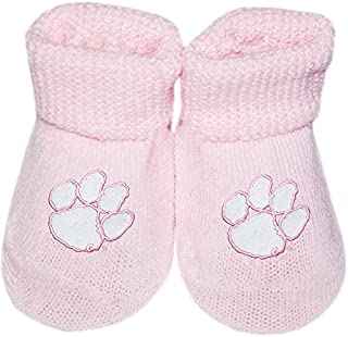 Michigan State University Spartans NCAA Licensed Solid Colored Newborn Baby Bootie Sock