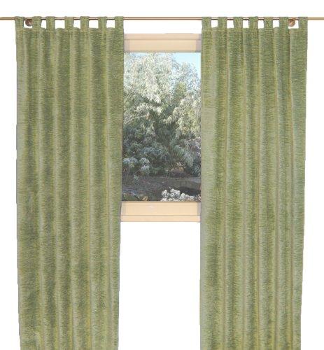 """Vorhang \""""Grönland A\"""", Thermo-Chenille Schlaufenschal, Farbe:hellgrün, 225/174 cm, Schwere Qualität: 330g/qm, Einzelschal, Thermovorhang"""