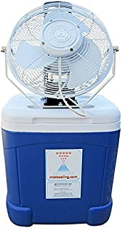 Portable Misting Fan System - Coolermax- 15 Gallon Tank, 14 Inch High Velocity Outdoor Rated Fan - Brass/Stainless Steel Misting Nozzle - 300 PSI Misting Pump