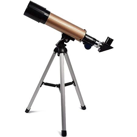 YTBUBOR Telescopio astronómico Profesional con trípode al Aire Libre Zoom Zoom telescopio Scope para Ver Las Estrellas de la Luna Clear (Color : Gold)