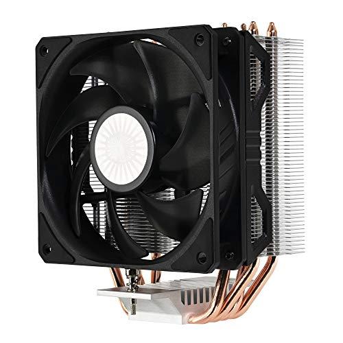Cooler Master Hyper 212 EVO V2, sistema de enfriamiento de CPU, óptimo rendimiento, características óptimzadas, disipador de calor compensado, 4 Heatpipes de contacto directo, Ventilador de 120 mm