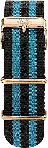Sailor Damen Herren Nylon Armband Black Ocean schwarz-blau BSL101-2005-20, Breite Armband:20mm (norm