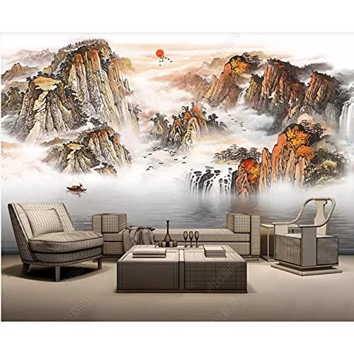 Foto 3d carta da parati in stile cinese paesaggio pittura a inchiostro paesaggio camera decorazione della casa 3d murale carta da parati 3d carta da parati 300x210 cm
