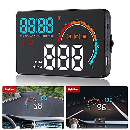 Coche Head Up Display HUD Digital Smart Velocímetro Proyector de Parabrisas Actualización de GPS para Mercedes Benz Serie Odómetro Pantalla Reflectante HD OBD2 + GPS Sistema Dual