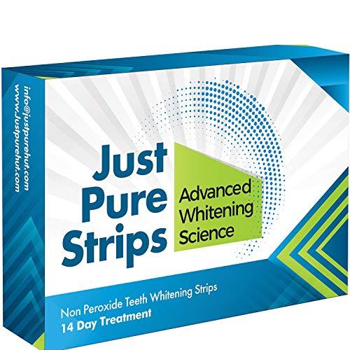 Zahnaufhellung - Zahnweiß-Streifen Gel Kit – 28 Stück - Ohne Peroxid - 100% Zufriedenheitsgarantie - 28 Streifen - 14 Tage Behandlung