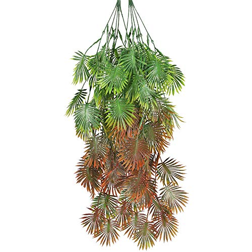 NAHUAA 2PCS Hiedra Artificial Colgantes Artificiales Plantas Verdes para Interiores al Aire Libre Hogar Cocina Sala de Estar Jardín Boda Fiesta Decoración