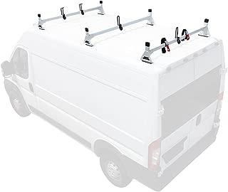Steel H1 3 Bar Van Rack System for RAM ProMaster 2013-On White