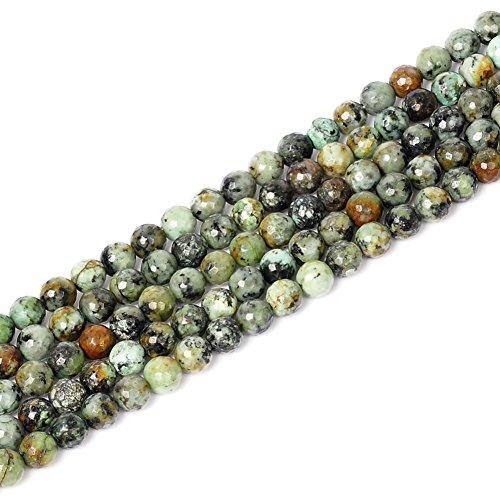 Ruilong Perles en pierre précieuse africaine Turquoise 4 mm 6 mm 8 mm 10 mm