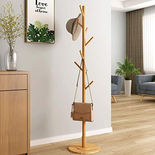 Yinglihua kapstok van hout, klassiek, retro design, houten garderobe voor toegangsdeur, boom, kleding, hoed, sjaal, tas, verticale ingang